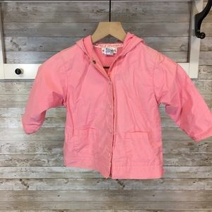 Gymboree jacket pink hooded sz Small 2-3 years